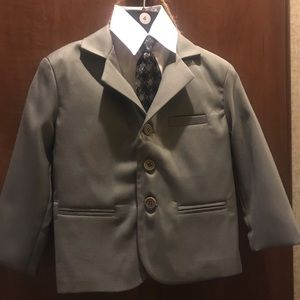 Toddler size 4 grey suit